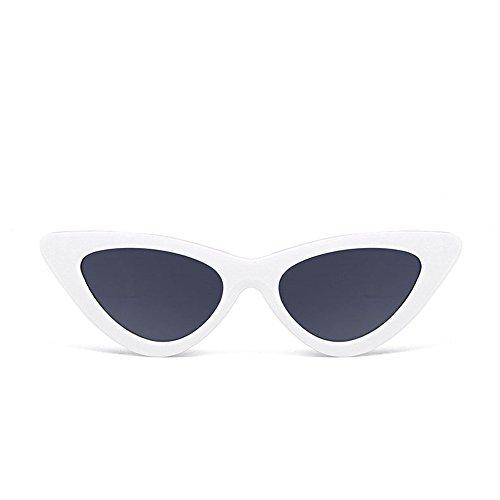 TW-Gläser TWISFER Cat Eye Sonnenbrillen Vintage Retro Randlos Strand Brille Damen Frauen(K,One Size)