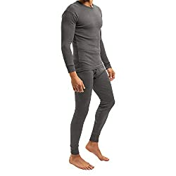 MT Men's Ski & Thermal Underwear Set - Warm Underwear Long Sleeves Thermo Light - Anthracite M