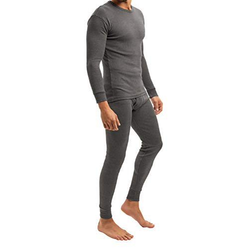 MT Herren Ski- & Thermowäsche Set - warme Unterwäsche Langarm Thermo Light - Anthrazit L