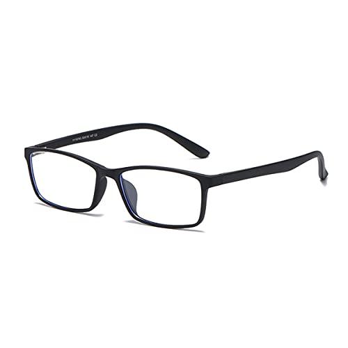 LGQ Gafas con Bloqueo de luz Azul, Montura Cuadrada de Moda, Gafas para Juegos de computadora, antirreflejos, visión HD, Unisex,C2
