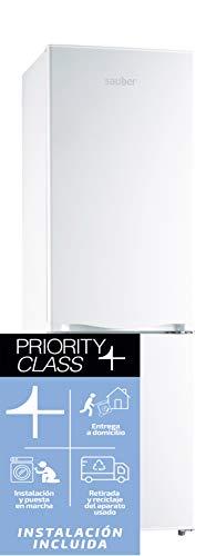 Sauber - Frigorífico Combi SC170B - Eficiencia energética: A+ - 177x55cm - Color Blanco