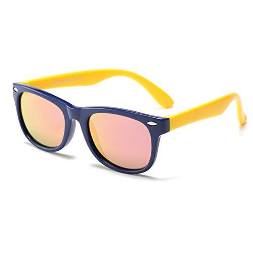 HQPCAHL Niños Gafas De Sol Polarizadas Goma Tonos Flexibles Gafas De Sol Polarizadas Niños Y Niñas Protección UV para Niñas Niños De 3 A 12 Años,J