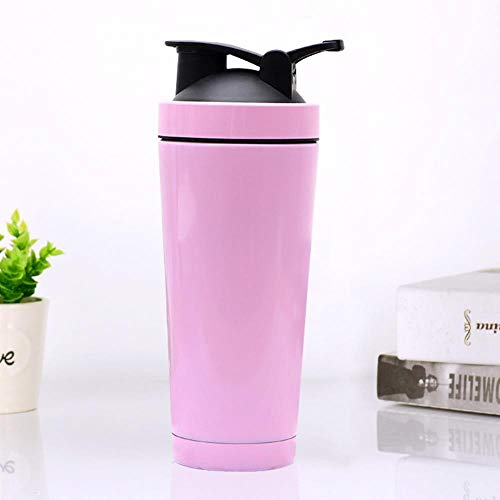 750ml Exercise Protein Powder Shaker 25oz Double Vacuum Insulation Stainless Steel Cup 304,Light Pink,750ml