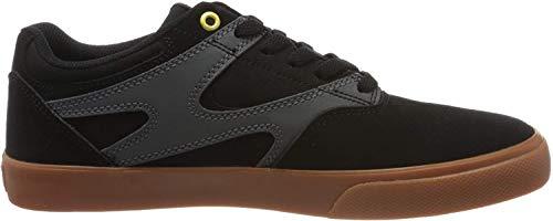 DC Shoes Kalis Vulc, Zapatillas de Skateboard para Hombre, Gris (Black/Grey Bla), 46 EU