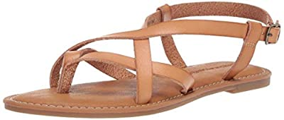 Amazon Essentials Women's Casual Strappy Sandal, Natural, 8.5 B US