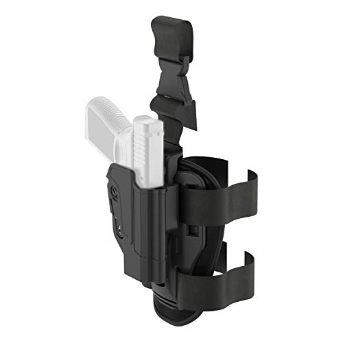 Orpaz Gun Holster for The S&W M&P 9mm Holster and S&W M&P 40 Holster (Right Hand, Level 2 Thumb Release Drop-Leg Holster)