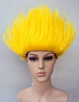 monde éblouissant Funky Japonesa Goku Pelucas (Amarillo) ITG # 192