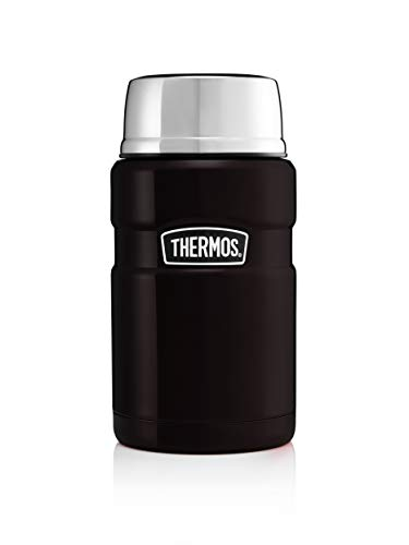 Thermos Stainless King Food Flask, Matt Black, 710 ml