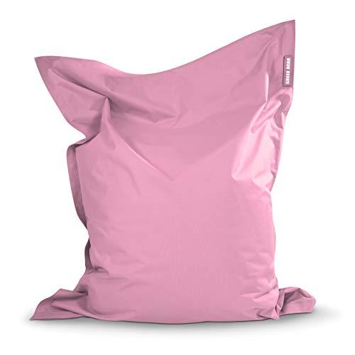Green Bean © Square XXL Riesensitzsack 140x180 cm - mit 380L Füllung - separater Innensack - S-XXL Indoor & Outdoor Sitzsack - waschbar, abnehmbare Sitzsackhülle, schmutzabweisend - Rosa