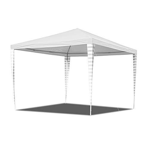 Hengda 3x3m Pavillon Wasserdicht Stabiles hochwertiges Gartenpavillon Ohne Seitenteile Hochzeit Festzelt UV-Schutz für Markt Camping Hochzeiten Festival