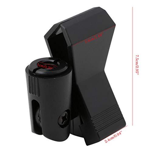 Qianqian56 Flexibele Microfoon Microfoon Microfoon Standaard Accessoire Plastic Klem Clip Houder Mount Zwart
