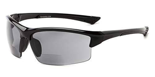 Readers.com Reading Sunglasses: The Roster Bifocal Reading Sunglasses Plastic Sport & Wrap-Around Style