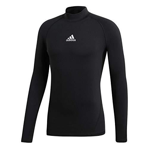 adidas Herren Alphaskin Longsleeve Warm T-Shirt, Black, L