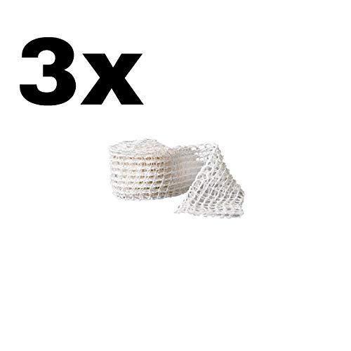 IBILI 3 X Malla elástica Carne, Tela, 20 x 10 x 8 cm Malla elástica de Calidad alimentaria, Resistente al Calor
