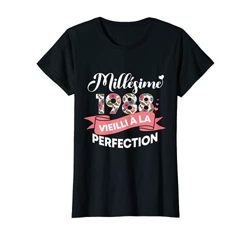 Femme Millésime 1988 Cadeau 33 Ans Femme Anniversaire Humour T-Shirt