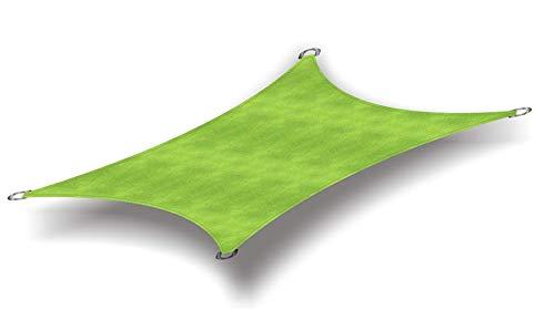 Insun 日除け シェード 防水 撥水 遮光率95% オックスフォード布 シェードセイル 日よけ シェード アウトドア 紫外線カット 矩形 グリーン 3x4m