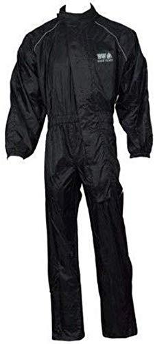 Regen-Anzug für Motorrad, Motorrad, Roller, Outdoor, wasserdicht, Einteiler, Regenschutz, Allwetter Gr. Medium, Schwarz