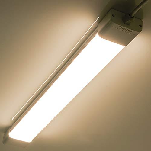 Anten 36W LED Feuchtraumleuchte 120cm für Keller, Garage, Innen- und Außenbeleuchtung | IP65 Wasserfest Kellerleuchte, Feuchtraumlampe in (Kaltweiß 6000K / Neutralweiß 4000K),