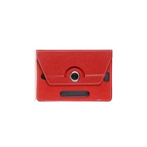 7 Inch 8 9 Inch 10 Inch Tablet Computer Case Three Hole Universal Leather Case(Big Red 7inches)
