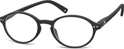 Montana Eyewear Sunoptic MR74 +1.50 Lesebrille in schwarz, inklusive Softetui, transparent