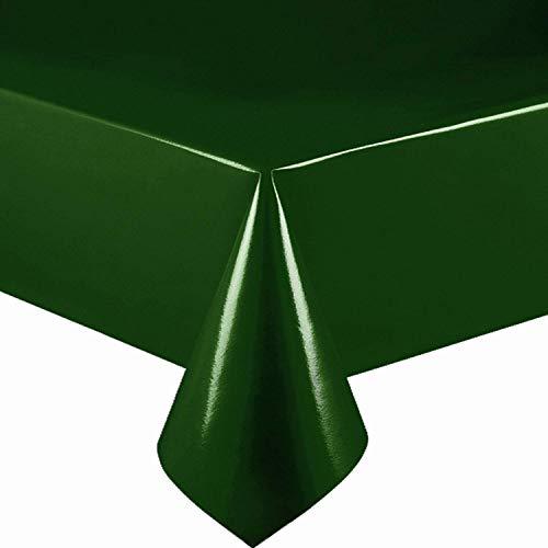 DecoHomeTextil Lacktischdecke Wachstuch Wachstischdecke Tischdecke Gartentischdecke Dunkelgrün Breite & Länge wählbar 140 x 100 cm Eckig abwaschbar
