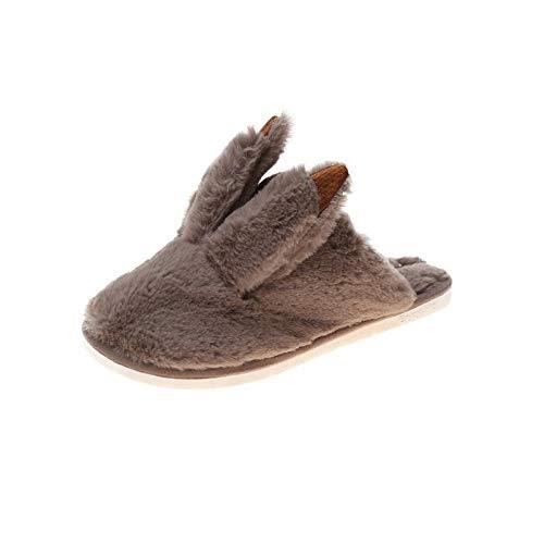 Zquest Sandalias de Verano para Mujer, Zapatillas de Felpa de Invierno, Zapatillas de Felpa cómodas para Mujer-Khaki_41
