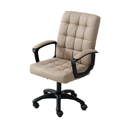 WY office chair Lift back swivel chair armchair sleeping back student chair back staff chair back student dormitory office chair ( Color : Khaki )