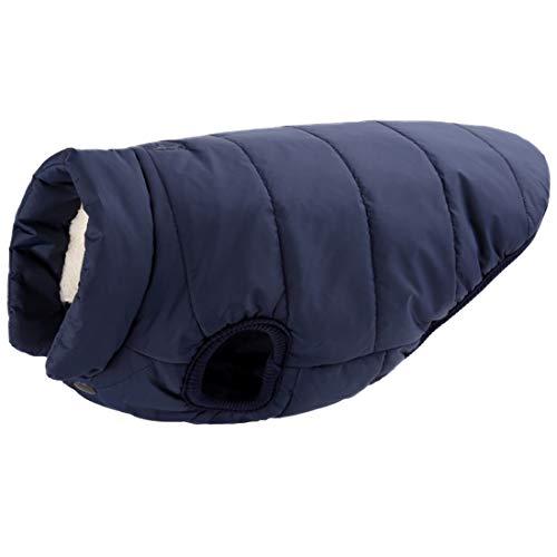 Fleece winter jas voor kleine middelgrote grote honden wollen jas Gilet Warme Thermal Coat Weste Verdikte huisdier kleding Comfortabele vasten Dicker Hondenmantel Pullover, Small, donkerblauw