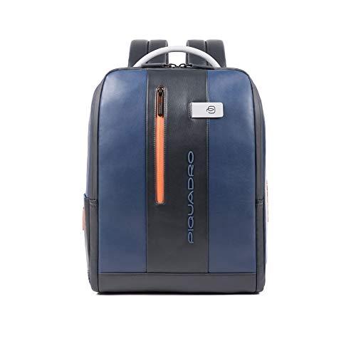 Piquadro Urban Business: Mochila de piel de 41 cm con compartimento para ordenador portátil