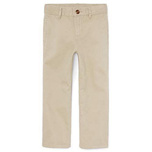 The Children's Place Boy's Uniform Chino Pants, Sand Wash, 5