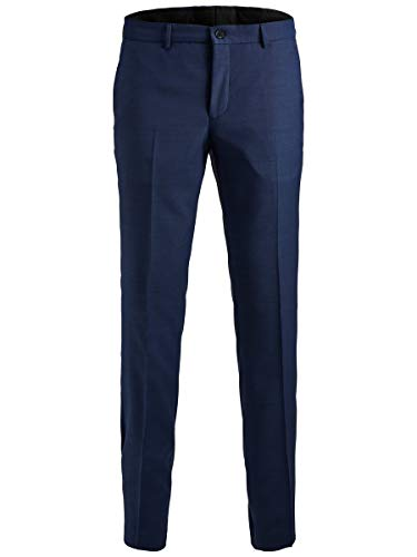 JACK & JONES Herren Jprsolaris Trouser Noos Anzughose, Blau (Medieval Blue Medieval Blue), 52 EU