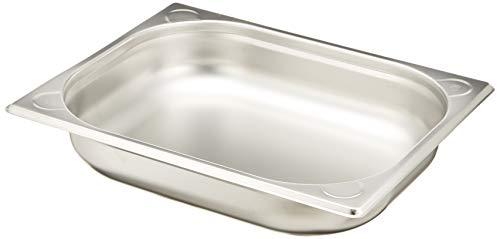 HENDI Gastronormbehälter, Temperaturbeständig von -40° bis 300°C, Heissluftöfen-Kühl- und Tiefkühlschränken-Chafing Dishes-Bain Marie, Stapelbar, 3,6L, GN 1/2, 325x265x(H)65mm, Edelstahl