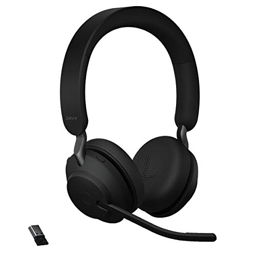 Jabra Evolve2 65 UC Wireless Headphones with Link380a, Stereo, Black – Wireless...