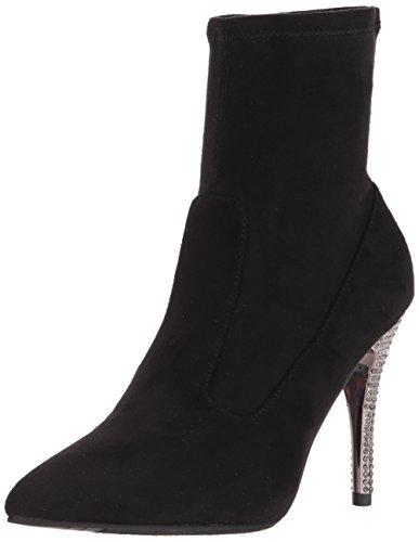 NINA Women's Roxie Ankle Bootie, Suede-True Black, 5.5 M US