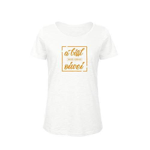 T-Shirt Damen [A bissl WOS gähd oiwei] – Bayern Kultspruch München Wiesn Organic