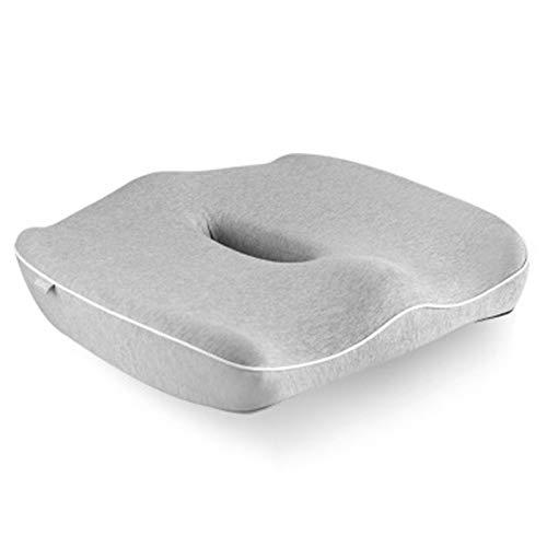 Prima de espuma de la memoria del amortiguador, de rebote lento diseño ergonómico confortable Relax Nalga curva de seguridad con cremallera oculto no se desliza incluso en Smooth Suelos de mármol perf