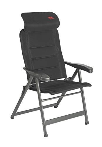 Crespo Air-Deluxe Compact Silla de Camping, Aluminio, Gris, Talla única