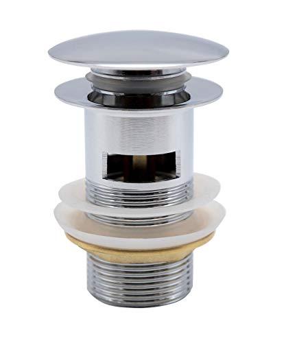 YEMPOR Universal Ablaufgarnitur mit Überlauf, Klick Klack Waschbecken Ablaufgarnitur POP-UP Ventil - Werkzeuglos Montage