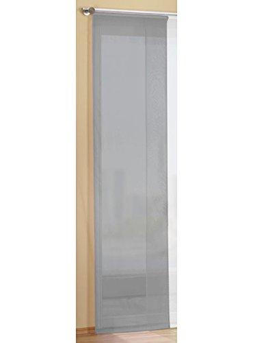 Gardinenbox Preisgünstiger Flächenvorhang Schiebegardine, transparent, unifarben, mit Zubehör, 245x60, Grau, 85589