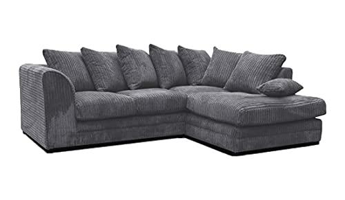 Honeypot - Sofa - Harley Jumbo Cord - Grey - Fabric (Right Hand Facing Corner)