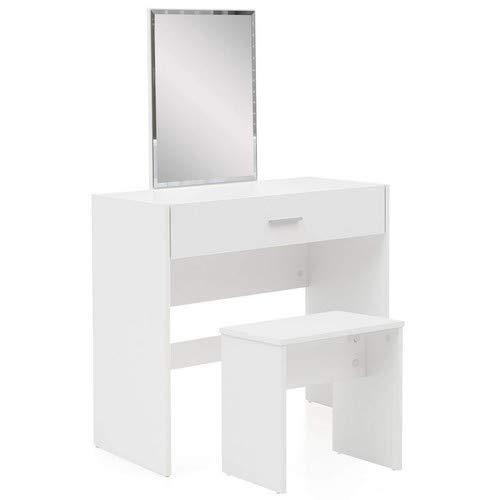 Wohnling WL5.726 Schminktisch, Holz, Weiß, 81 x 131 x 39 cm