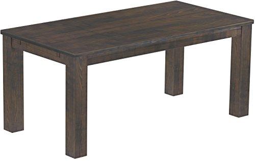 Brasilmöbel Esstisch Rio Classico 180x90 cm Granitgrau Massivholz Pinie Holz Esszimmertisch Echtholz Größe und Farbe wählbar ausziehbar vorgerichtet für Ansteckplatten