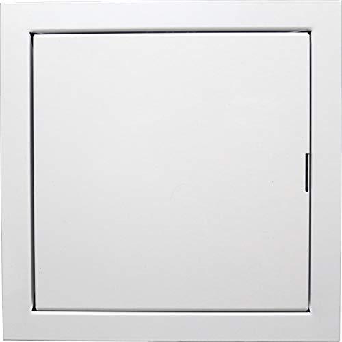 REPA MARKET - Placa de apertura de plástico blanco para puerta (6 x 6, metal)