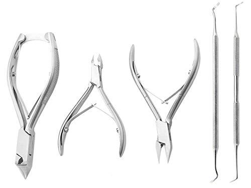 Pediküre Set mit Nagelzangen und Fußpflegeinstrumente
