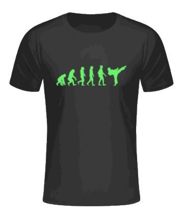 S.B.J - Sportland schweres Qualitäts Karate T-Shirt Evolution Karate/Kampfsport/Kick Farbe schwarz/neongrün, Gr. 140