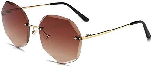 Gafas De Sol Mujer Aviator Hembra Sexy Square Gafas De Sol Sin Marco Top Fashion Shades Gafas De Sol para Mujer Hombres (Color : C)
