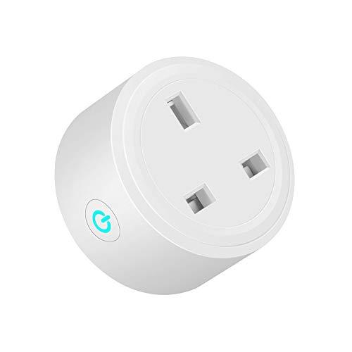 YJLL Smart Plug WiFi Mini Plug Outlet werkt met Amazon Alexa Google Home en IFTTT-schakelaar voor het aansluiten van de timer afstandsbediening zonder hub