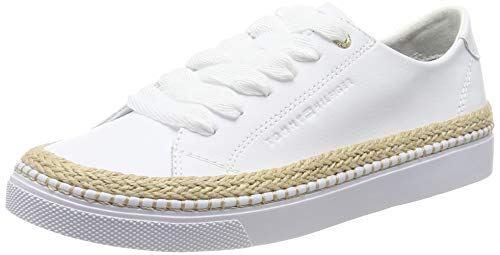 Tommy Hilfiger Tommy Jute City Sneaker, Zapatillas para Mujer, Blanco (White 100), 37 EU