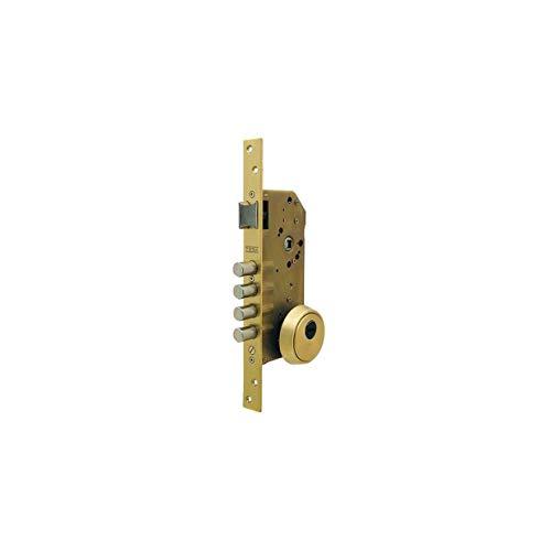 Tesa Assa Abloy R200B566L Cerradura De Seguridad Monopunto Con Cilindro T60, Acero Inoxidable