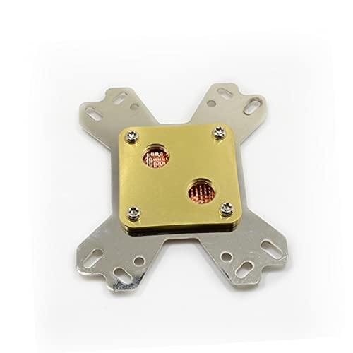 MiaoMiao C16 CPU Bloque de Agua Material de Cobre CPU Bloque de enfriamiento Ajuste para Toma de CPU Intel y AMD Service (Color : AMD CPU)